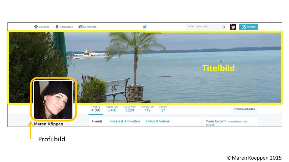Twitter Titel und Profil Bild