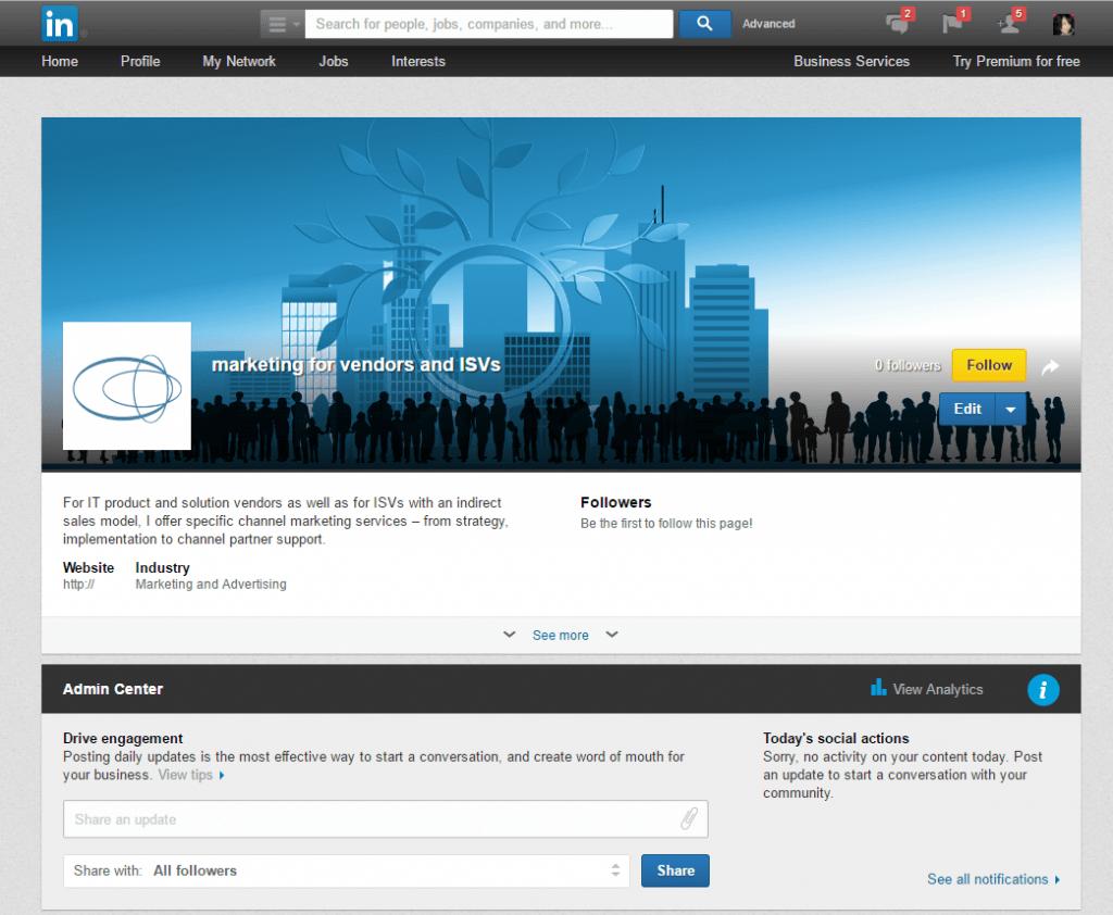 how to make a company page on linkedin