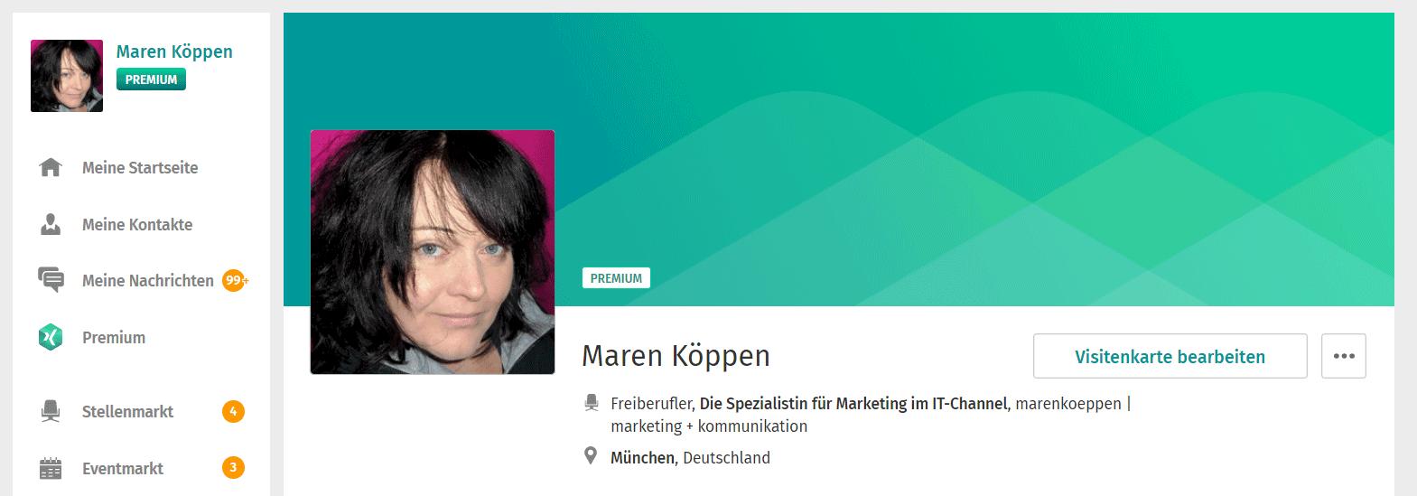 Das Neue Xing Profil Design In 2018 Marenkoeppen