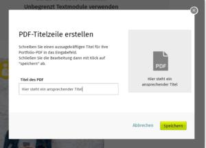 Xing Profil - PDF hochladen