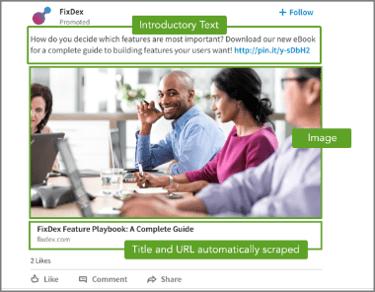LinkedIn Anzeigen, Format: Sponsored Content