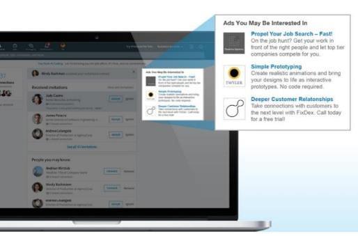 LinkedIn Anzeigen, Format: Textanzeige