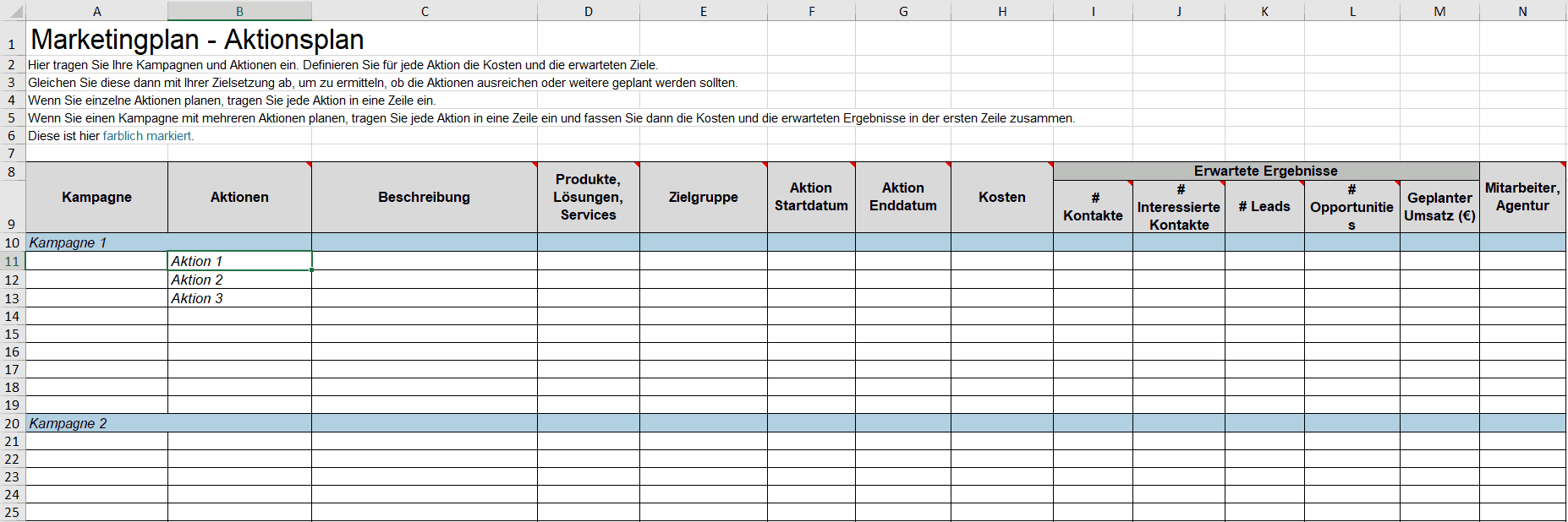Marketing Spreadsheet Template Excelguider