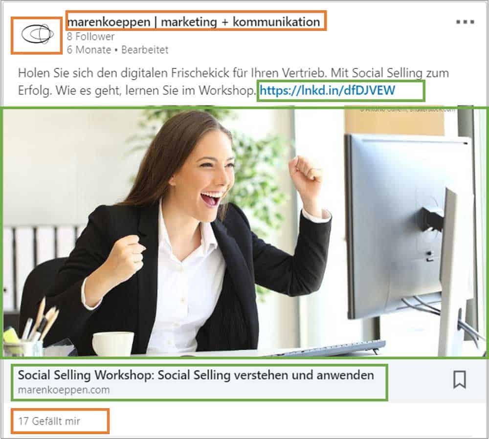 LinkedIn Klicks: Kostenpflichtige Klicks innerhalb einer Anzeige