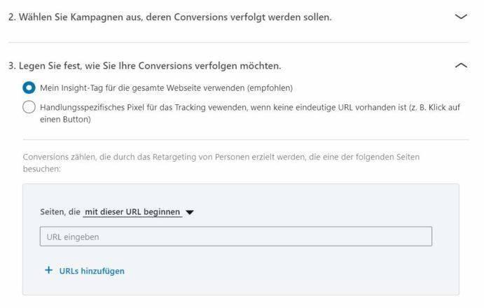 LinkedIn Conversion einrichten Teil 2
